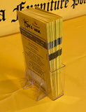 The Original BEE'S WAX FURNITURE POLISH > Acrylic Brochure Holder with 50 Brochures