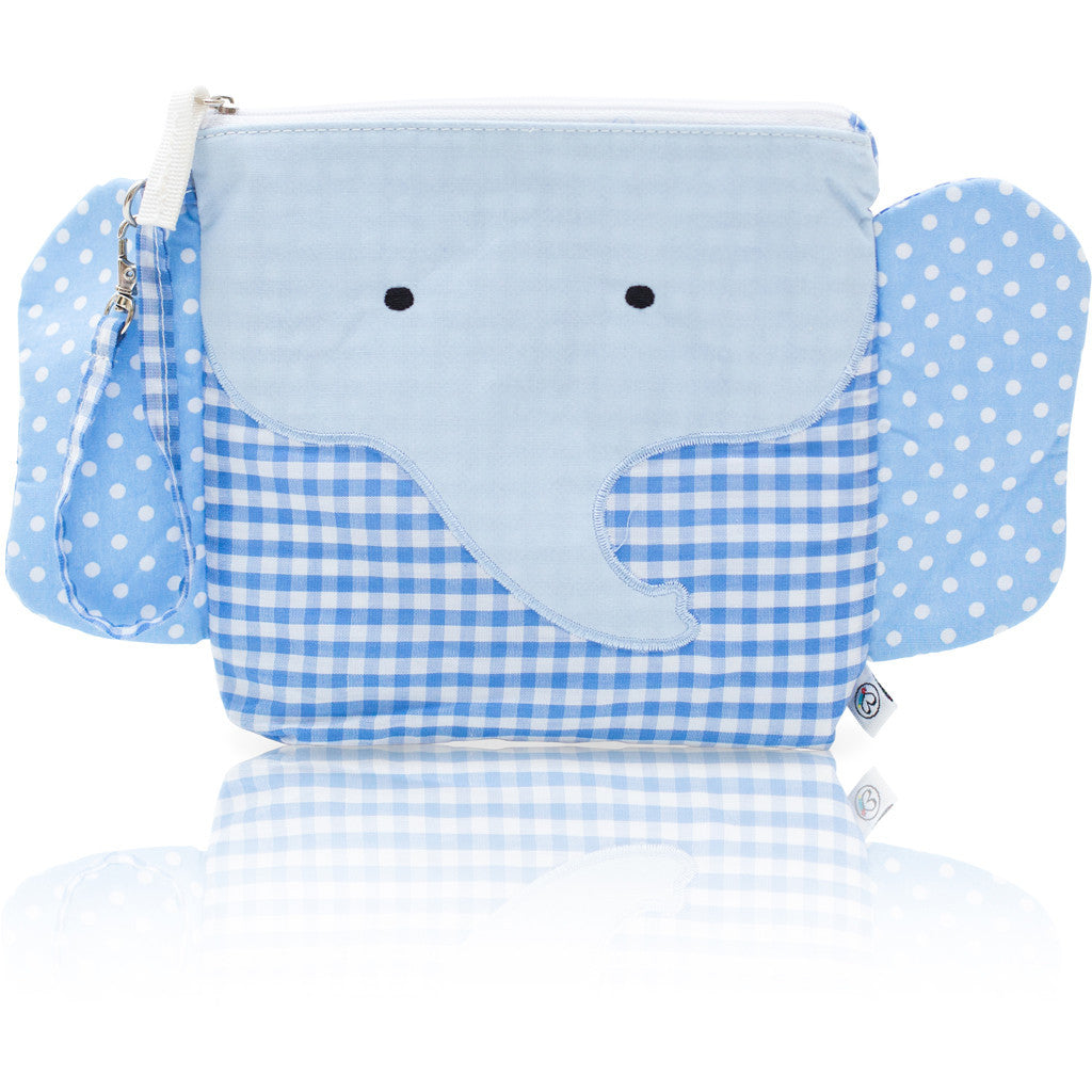 "My First Buddy Snack Bag - Cotton Blue Elephant ""Charlie"""