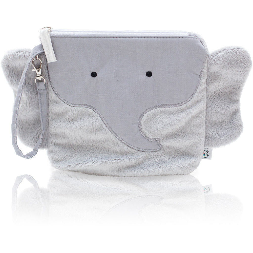 "My First Buddy Snack Bag - Plush Gray Elephant ""Pebbles"""