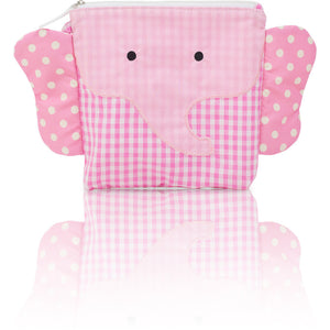 "My First Buddy Snack Bag - Cotton Pink Elephant ""Ellie"""