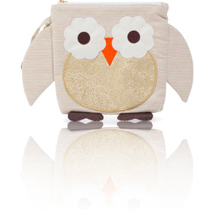 "My First Buddy Snack Bag - Glitter Gold Owl ""Bella"""