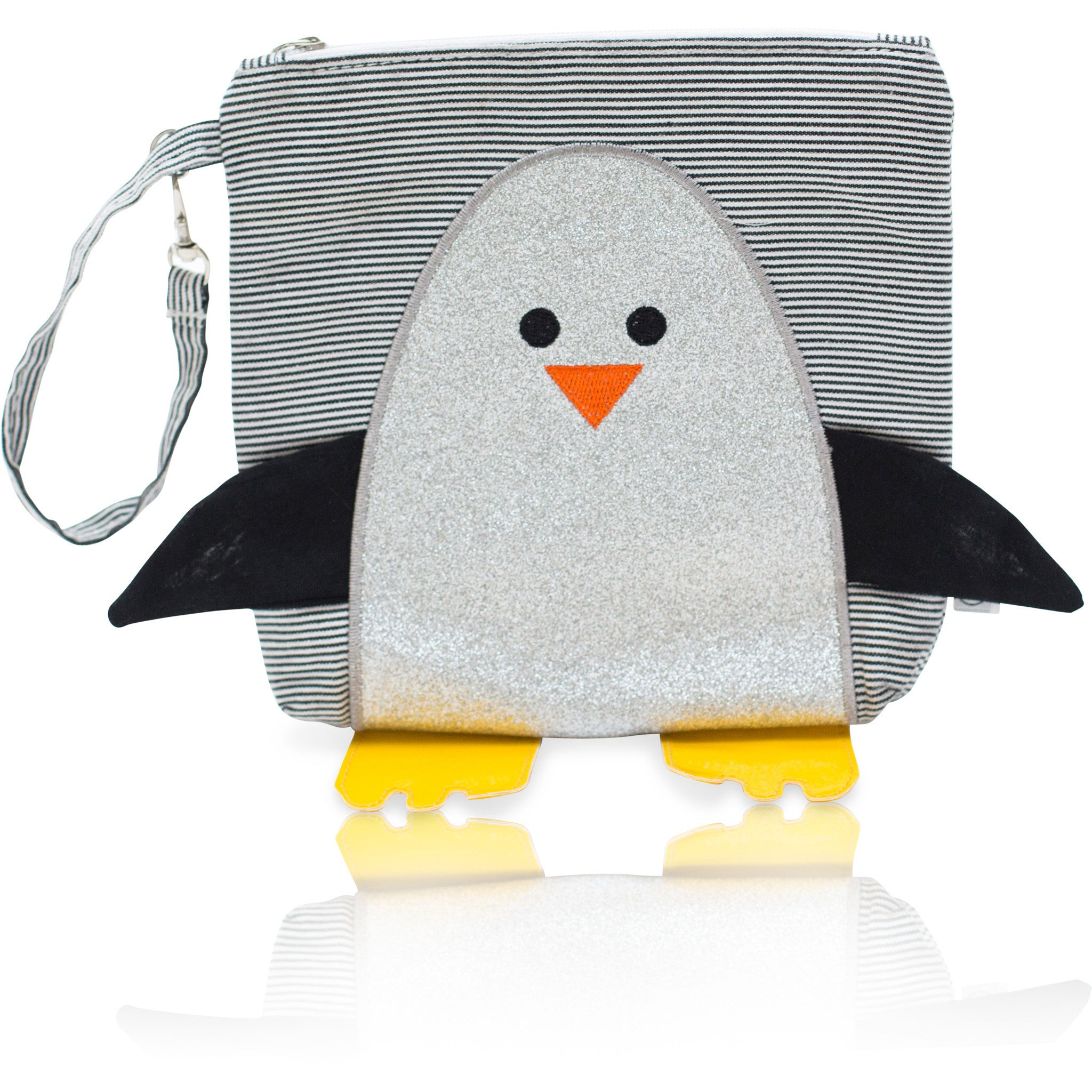 "My First Buddy Snack Bag - Glitter Silver Penguin ""Chili"""