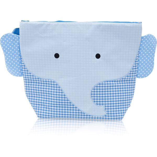 "Forever Young Wet + Dry Backpack (Small)- Cotton Blue Elephant ""Charlie"""