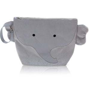 "Forever Young Wet + Dry Backpack (Small)- Plush Gray Elephant ""Pebbles"""