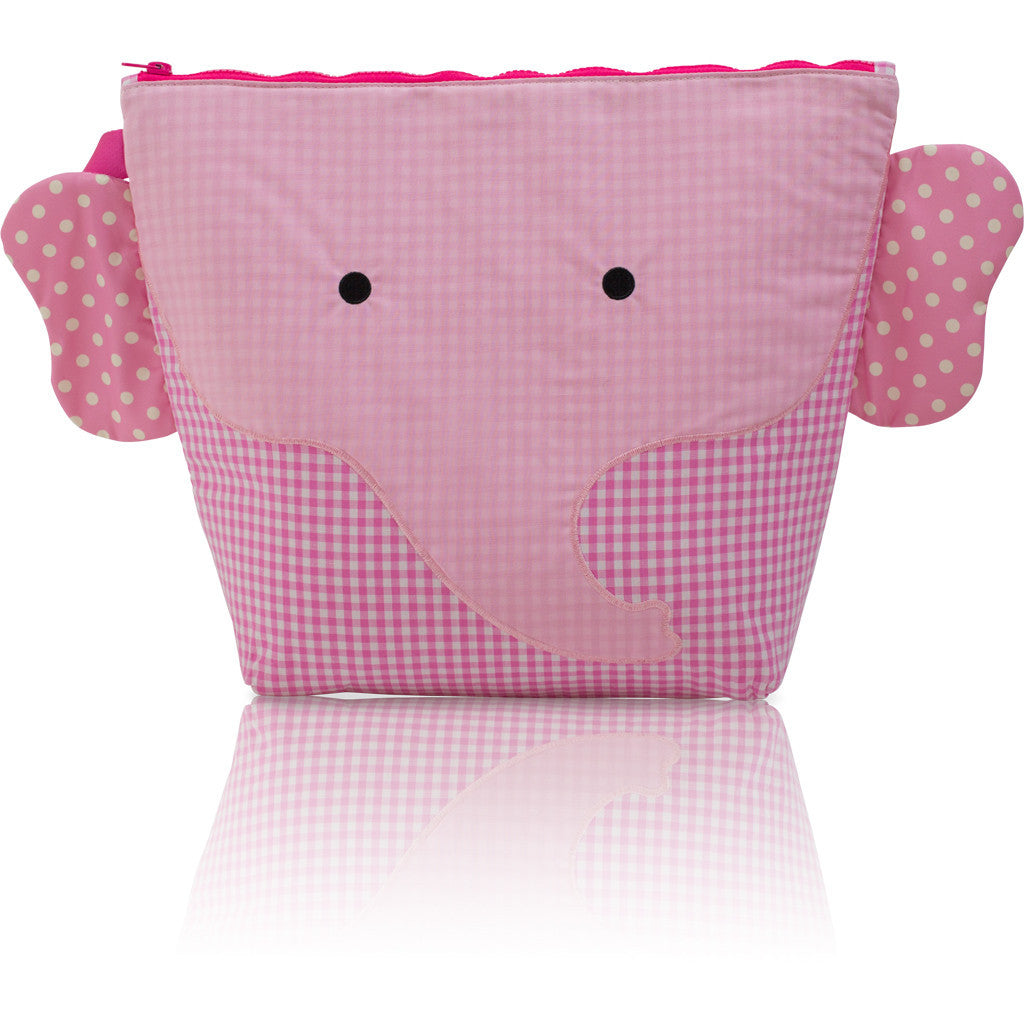 "Forever Young Wet + Dry Backpack (Small)- Cotton Pink Elephant ""Ellie"""