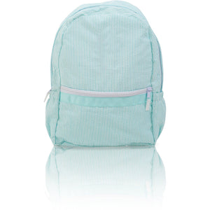 Seersucker Backpack - Aqua