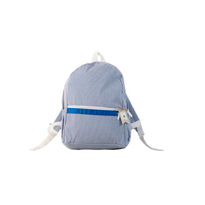 Seersucker Backpack - Blue