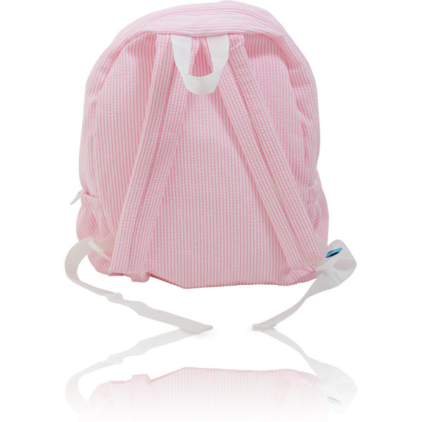 Seersucker Backpack: Seaside Collection - Pink/Mermaid