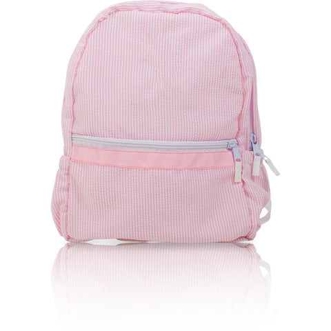 Seersucker Backpack - Pink