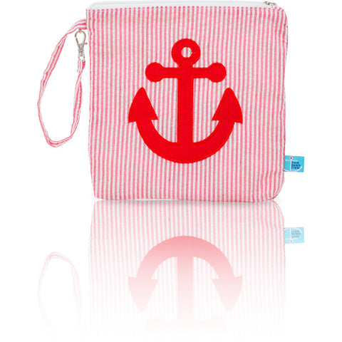 Seersucker Mini: Seaside Collection - Red/Anchor