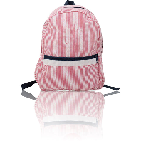 Seersucker Backpack - Red