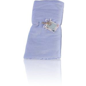 Seersucker Towel-Ket Oversized - Baby Blue