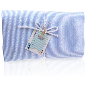 Seersucker Towel-Ket - Baby Blue