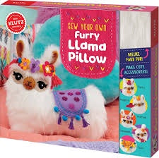 Make your own Furry Llama Pillow Kit