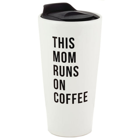 MUG THIS MOM RUNS ON COFFEE