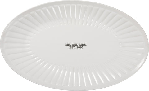 Mr and Mrs 2020 plate
