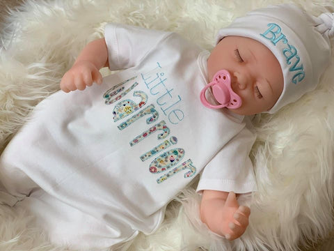 embroidered baby onsies Little Warrior