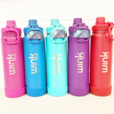 Wink Naturals Laser-Etched Takeya Water Bottle