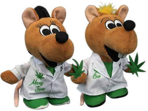 Bud and Mary Jane the Lab Rat Cannabis Horticulturists Duo