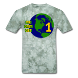 """We Only Get 1 Earth"" - Men's T-Shirt - military green tie dye"