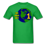 """We Only Get 1 Earth"" - Men's T-Shirt - bright green"