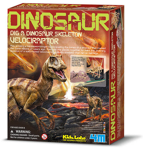 """Dig A Dinosaur Skeleton: Velociraptor"" - Science Kit  - LabRatGifts - 1"