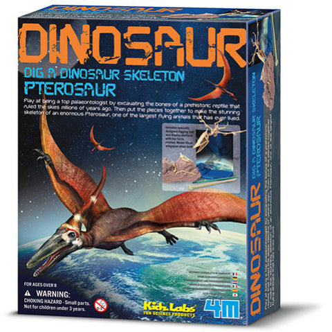 """Dig A Dinosaur Skeleton: Pterosaur"" - Science Kit  - LabRatGifts - 1"