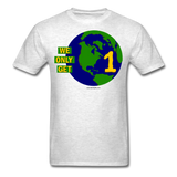 """We Only Get 1 Earth"" - Men's T-Shirt - light heather grey"