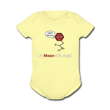 """A-Mean-Oh Acid"" - Baby Short Sleeve One Piece lemon / Newborn - LabRatGifts - 3"