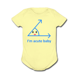 """Acute Baby"" - Baby Short Sleeve One Piece lemon / Newborn - LabRatGifts - 3"