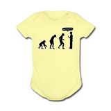 """Stop Following Me"" - Baby Short Sleeve One Piece lemon / Newborn - LabRatGifts - 3"