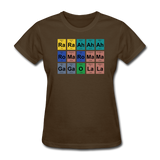 """Lady Gaga Periodic Table"" - Women's T-Shirt brown / S - LabRatGifts - 8"