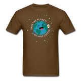 """Save the Planet"" - Men's T-Shirt brown / S - LabRatGifts - 6"