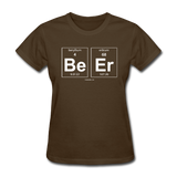 """BeEr"" - Women's T-Shirt brown / S - LabRatGifts - 4"