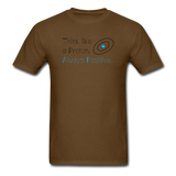 """Think like a Proton"" (black) - Men's T-Shirt brown / S - LabRatGifts - 7"