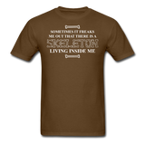 """Skeleton Inside Me"" - Men's T-Shirt brown / S - LabRatGifts - 6"