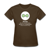 """Biology Division"" - Women's T-Shirt brown / S - LabRatGifts - 8"