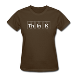 """ThInK"" (white) - Women's T-Shirt brown / S - LabRatGifts - 4"