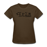 """I Ate Some Pie"" (black) - Women's T-Shirt brown / S - LabRatGifts - 10"