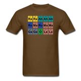 """Lady Gaga Periodic Table"" - Men's T-Shirt brown / S - LabRatGifts - 6"