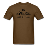 """In Science We Trust"" (black) - Men's T-Shirt brown / S - LabRatGifts - 11"