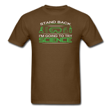 """Stand Back"" - Men's T-Shirt brown / S - LabRatGifts - 6"