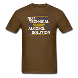 """Technically Alcohol is a Solution"" - Men's T-Shirt brown / S - LabRatGifts - 6"