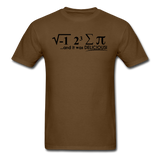 """I Ate Some Pie"" (black) - Men's T-Shirt brown / S - LabRatGifts - 12"