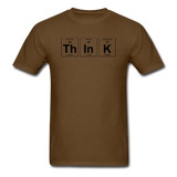 """ThInK"" (black) - Men's T-Shirt brown / S - LabRatGifts - 11"