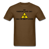 """My Radioactive Cat has 18 Half-Lives"" - Men's T-Shirt brown / S - LabRatGifts - 4"