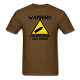 """Warning Compressed Gas Inside"" - Men's T-Shirt brown / S - LabRatGifts - 4"