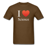 """I ♥ Science"" (white) - Men's T-Shirt brown / S - LabRatGifts - 6"