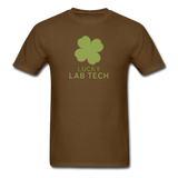 """Lucky Lab Tech"" - Men's T-Shirt brown / S - LabRatGifts - 4"