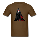 """Tall Darth and Handsome"" - Men's T-Shirt brown / S - LabRatGifts - 11"